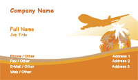 Orange and White Travel Business Card Template